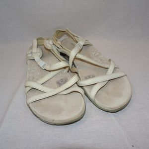 MERRELL San Remo White Leather Canvas Sandals